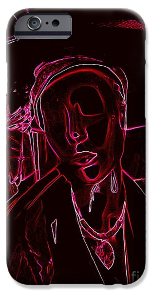 Abstract Digital Photographs iPhone Cases - Beneath The Surface iPhone Case by Ed Weidman