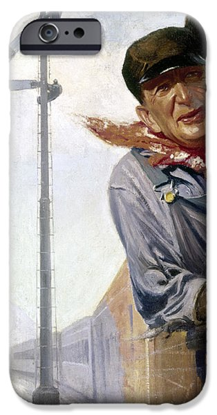 BENEKER: THE ENGINEER, 1913 iPhone Case by Granger