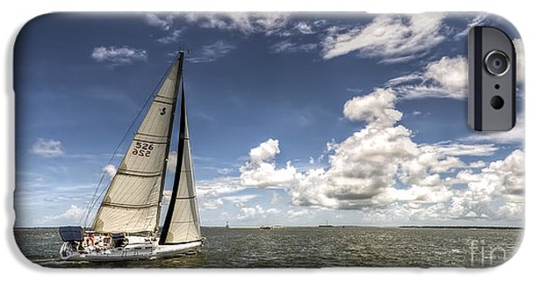 Sailing Yacht iPhone Cases - Beneteau first 40.7 iPhone Case by Dustin K Ryan