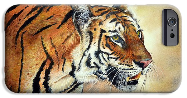 Bengal Tiger iPhone Cases - Bengal Tiger iPhone Case by Paul Dene Marlor