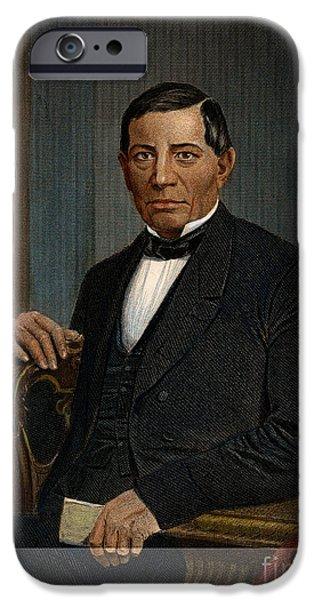 1870 iPhone Cases - Benito Juarez (1806-1872) iPhone Case by Granger