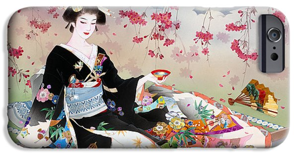 Adult iPhone Cases - Benizakura iPhone Case by Haruyo Morita