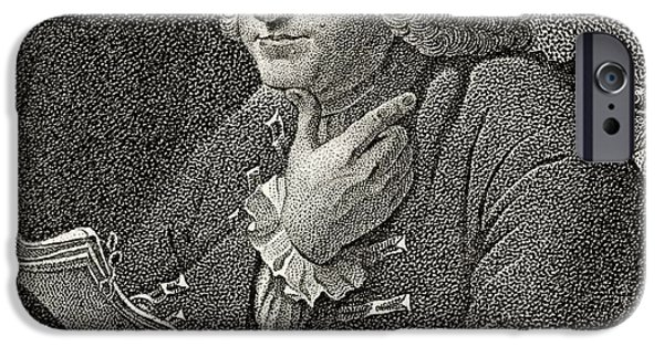 Franklin Drawings iPhone Cases - Benjamin Franklin 1706 To 1790 American iPhone Case by Ken Welsh