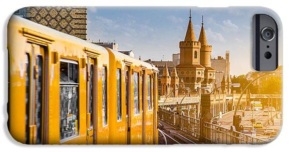U-bahn iPhone Cases - Berlin Kreuzberg iPhone Case by JR Photography
