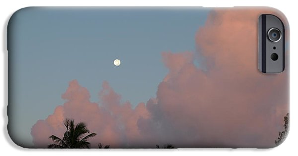 Best Sellers -  - Moonscape iPhone Cases - Bermuda Morning Moon iPhone Case by Richard Reeve