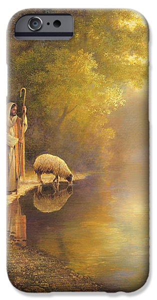 Beside Still Waters iPhone Case by Greg Olsen