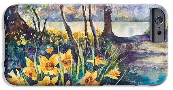 Kate iPhone Cases - Beside the Lake Beneath the Trees. iPhone Case by Kate Bedell