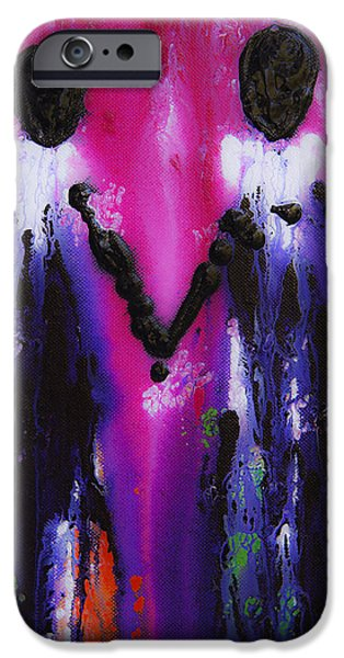 Best Friends Forever - BFF Love And Devotion Art iPhone Case by Sharon Cummings