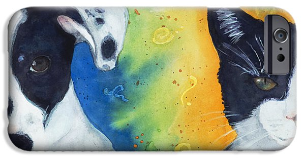 Dog Iphone Case iPhone Cases - Best Friends iPhone Case by Marie Stone Van Vuuren