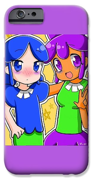 Little Girl iPhone Cases - Best Friends iPhone Case by Zaria Taylor