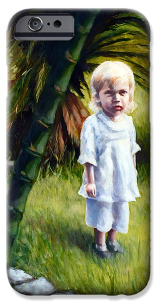 Little Girl iPhone Cases - Bethany iPhone Case by Laura Ury