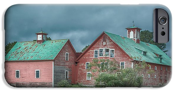 Crops iPhone Cases - Bethel Barn iPhone Case by Guy Whiteley