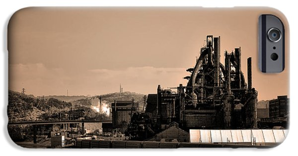 Bethlehem iPhone Cases - Bethlehem Steel iPhone Case by Bill Cannon
