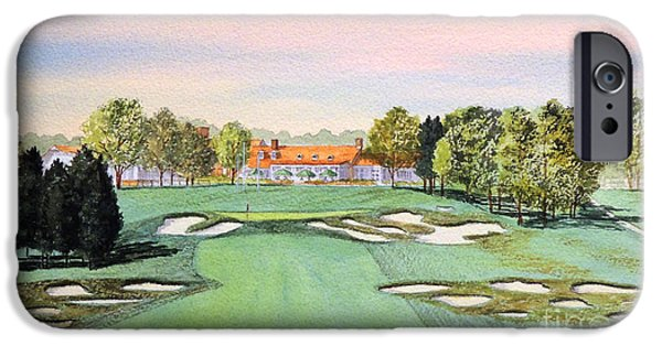 States iPhone Cases - Bethpage State Park Golf Course 18th Hole iPhone Case by Bill Holkham