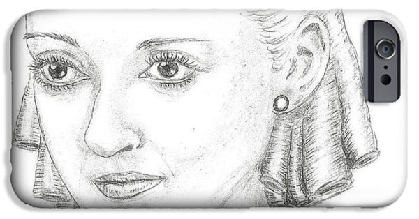 Steven White iPhone Cases - Bette Davis iPhone Case by Steven White