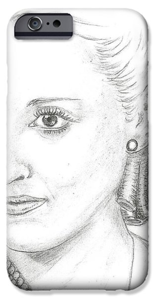 Bette Davis iPhone Case by Steven White