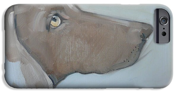 Weimaraners iPhone Cases - Betty iPhone Case by Sally Muir