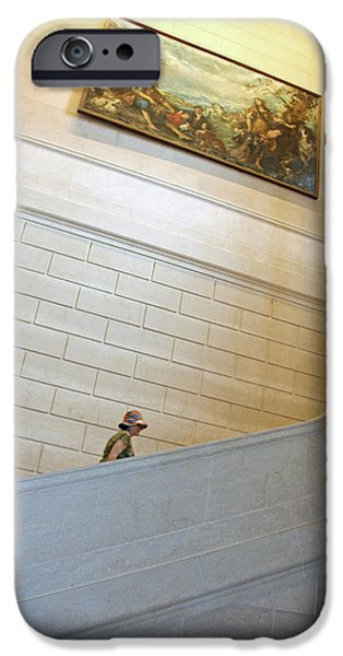 Painter Photographs iPhone Cases - Between Art At The National Gallery Of Art iPhone Case by Cora Wandel