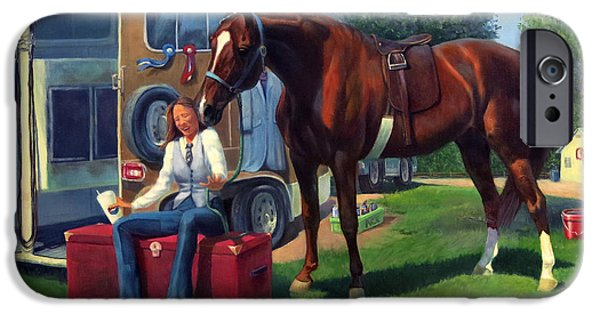 American Saddlebred iPhone Cases - Pepsi Please iPhone Case by Jeanne Newton Schoborg