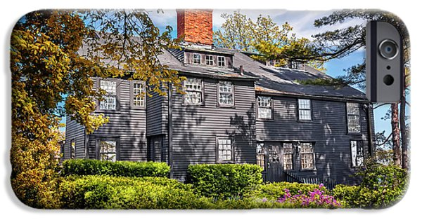 Frame House Photographs iPhone Cases - Bewitching Salem iPhone Case by Carol Japp