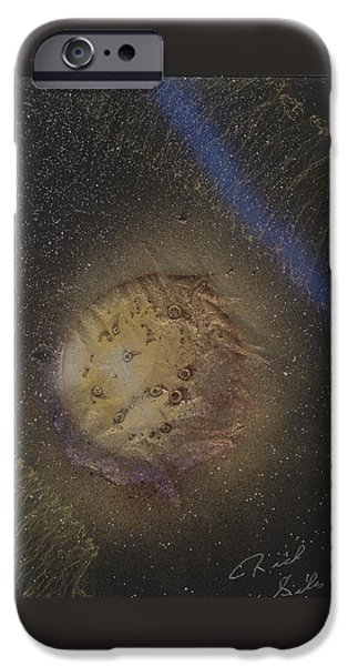 Contemporary Abstract Glass Art iPhone Cases - Beyond  iPhone Case by Rick Silas