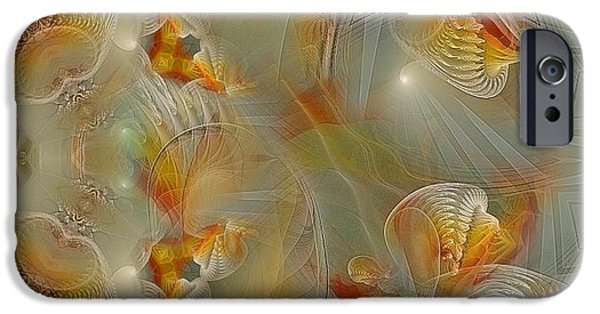 Abstract Digital Pastels iPhone Cases - Beyond the Dance of Life iPhone Case by Gayle Odsather