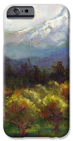 Beyond the Orchards iPhone Case by Talya Johnson