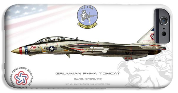 Weapon iPhone Cases - Bicentennial Tomcat iPhone Case by Peter Van Stigt