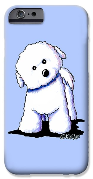 Kim Drawings iPhone Cases - Bichon Boy iPhone Case by Kim Niles