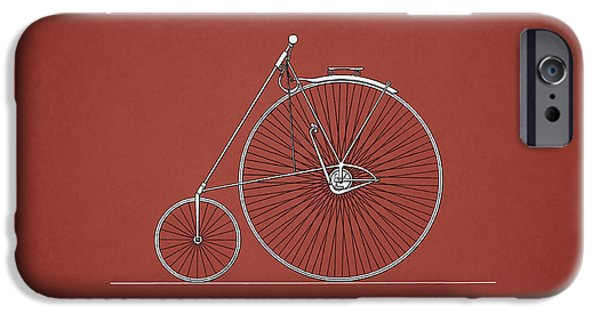 Vintage Bicycle iPhone Cases - Bicycle 1885 iPhone Case by Mark Rogan