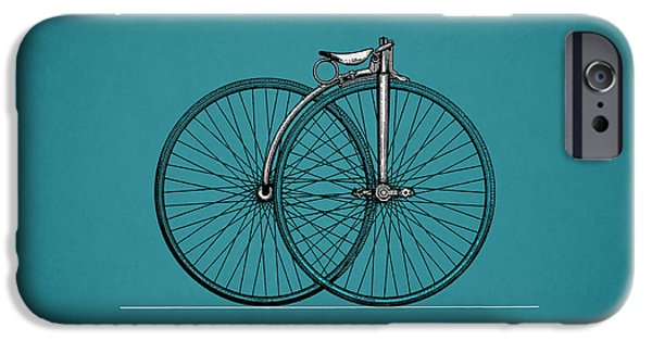Vintage Bicycle iPhone Cases - Bicycle 1889 iPhone Case by Mark Rogan