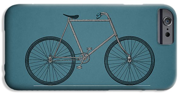 Vintage Bicycle iPhone Cases - Bicycle 1896 iPhone Case by Mark Rogan