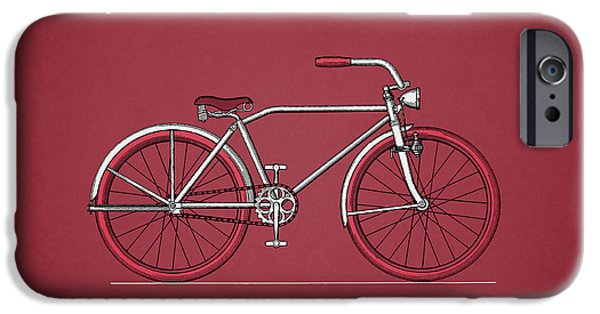 Vintage Bicycle iPhone Cases - Bicycle 1935 iPhone Case by Mark Rogan