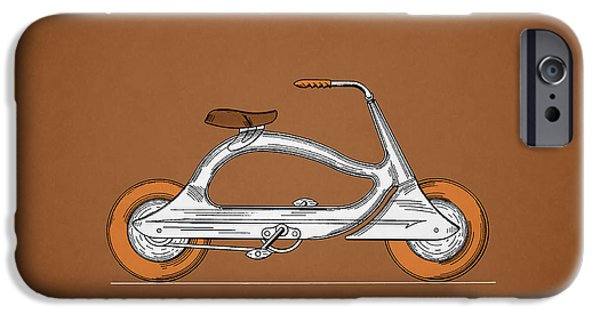 Vintage Bicycle iPhone Cases - Bicycle 1938 iPhone Case by Mark Rogan