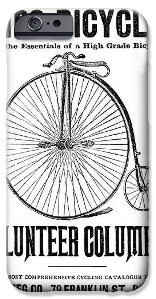 1880s iPhone Cases - Bicycle Advertisement, 1888 iPhone Case by Granger