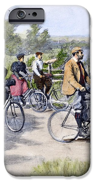 BICYCLE TOURISTS, 1896 iPhone Case by Granger