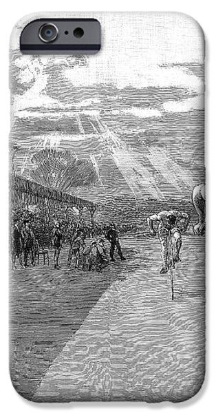 BICYCLE TOURNAMENT, 1886 iPhone Case by Granger