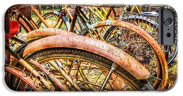 Velo iPhone Cases - Bicycles iPhone Case by Debra and Dave Vanderlaan