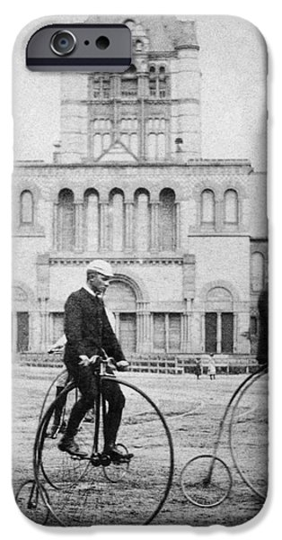 BICYCLING, 1880s iPhone Case by Granger