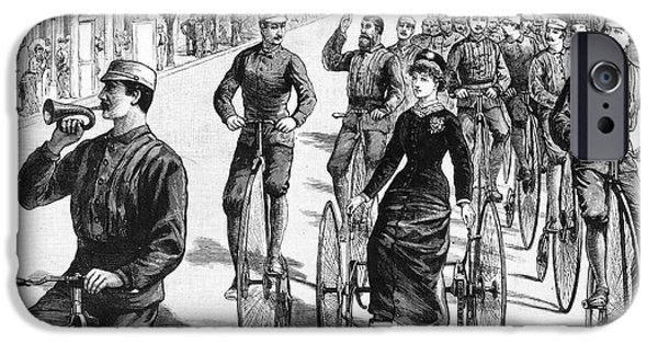 1884 iPhone Cases - Bicyclist Meeting, 1884 iPhone Case by Granger