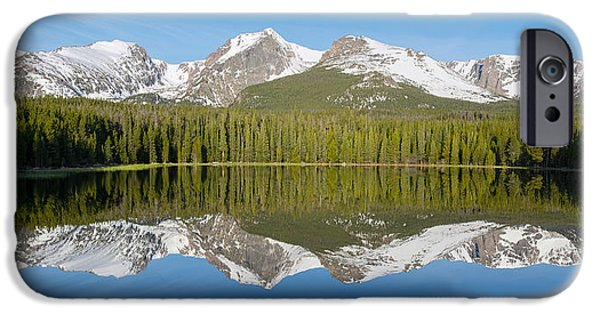Springtime In The Park iPhone Cases - Bierstadt Lake  iPhone Case by Aaron Spong