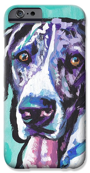 Great Dane Puppy iPhone Cases - Big Baby Dane iPhone Case by Lea