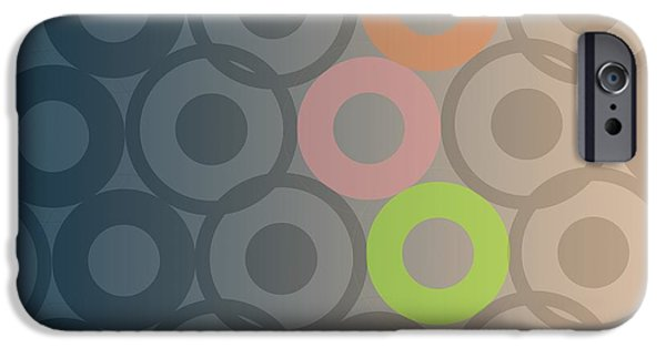 Circle Digital iPhone Cases - Big Bang iPhone Case by Francois Domain