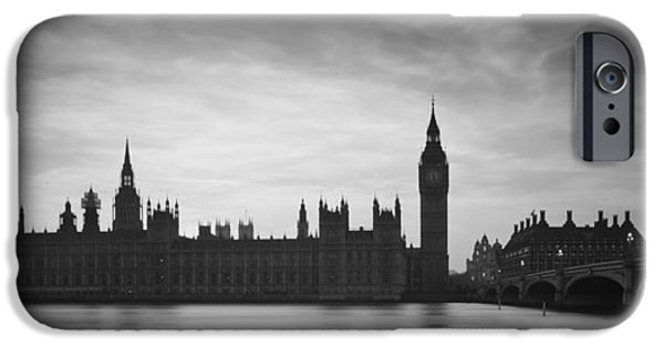 White House iPhone Cases - Big Ben and Houses of Parliament London during Winter sunset in  iPhone Case by Matthew Gibson