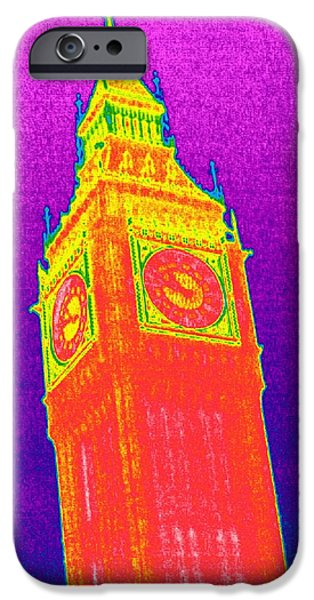 Big Ben, Uk, Thermogram iPhone Case by Tony Mcconnell