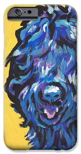 Black Dog iPhone Cases - Big Blackie iPhone Case by Lea