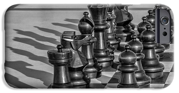 Board iPhone Cases - Big Chess iPhone Case by Paul Barkevich