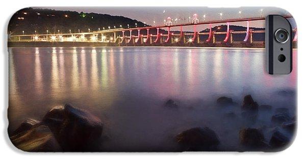 Technology iPhone Cases - Big Dam Bridge iPhone Case by Jonas Wingfield