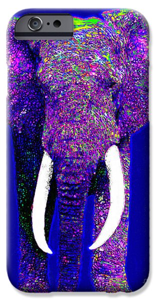 Elephant iPhone Cases - Big Elephant 20130201m118 iPhone Case by Wingsdomain Art and Photography