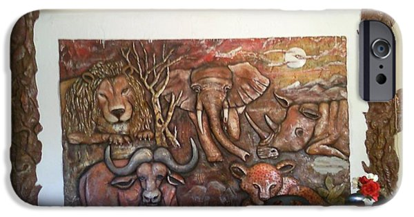 Wild Animals Reliefs iPhone Cases - Big Five iPhone Case by Eduardo  Sumbane